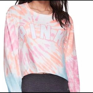 Victoria's Secret PINK Tie Dye Crop Top